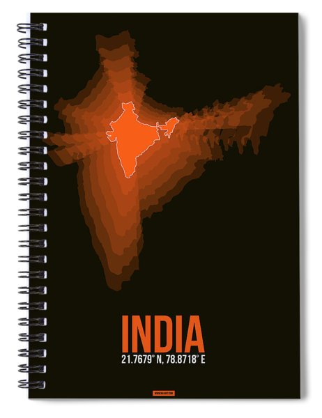 India Radiant Map 1 Spiral Notebook
