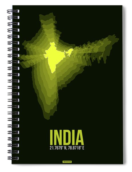 India Radiant Map 2 Spiral Notebook