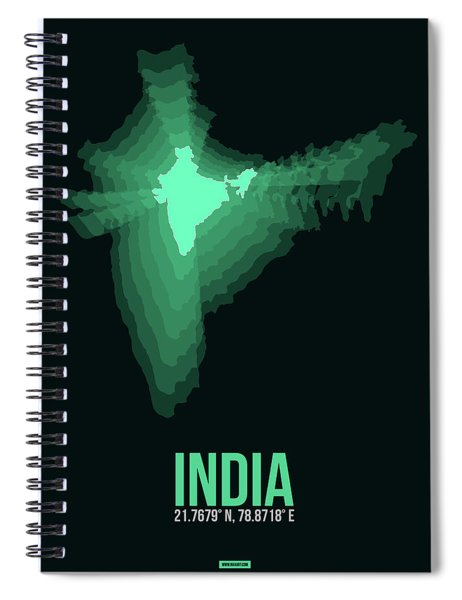 India Radiant Map 3 Spiral Notebook