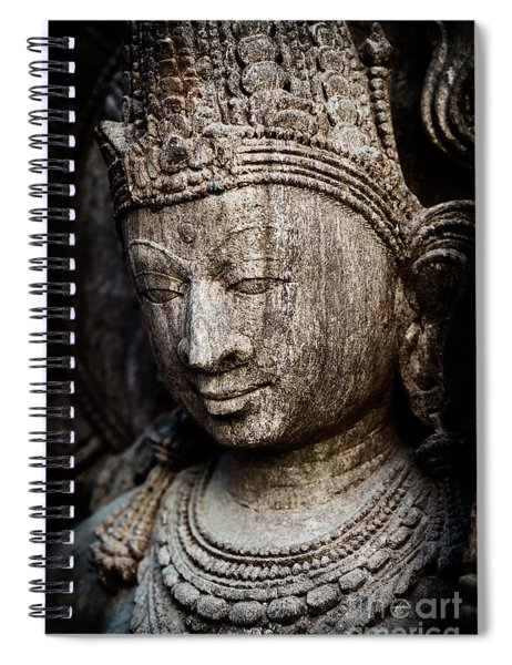 Indian Temple Goddess Spiral Notebook by Tim Gainey
