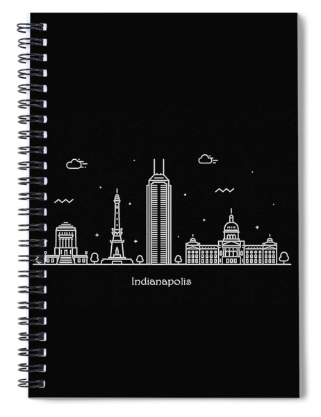 Indianapolis Skyline Travel Poster Spiral Notebook