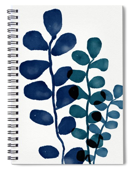 Indigo Eucalyptus 1- Art By Linda Woods Spiral Notebook