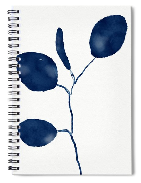 Indigo Eucalyptus 2- Art By Linda Woods Spiral Notebook