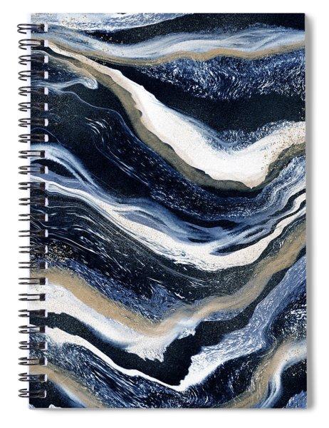 Indigo Flow- Art By Linda Woods Spiral Notebook