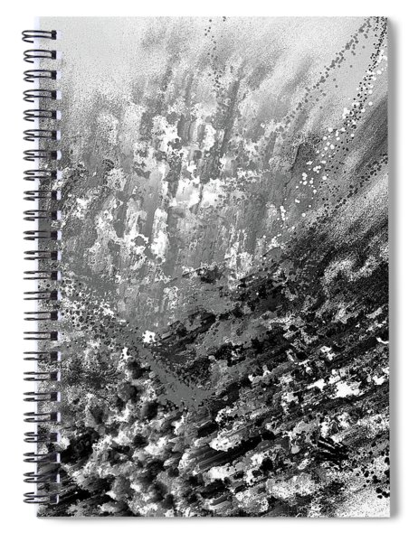 Indistinct - Gray Abstract Art Spiral Notebook