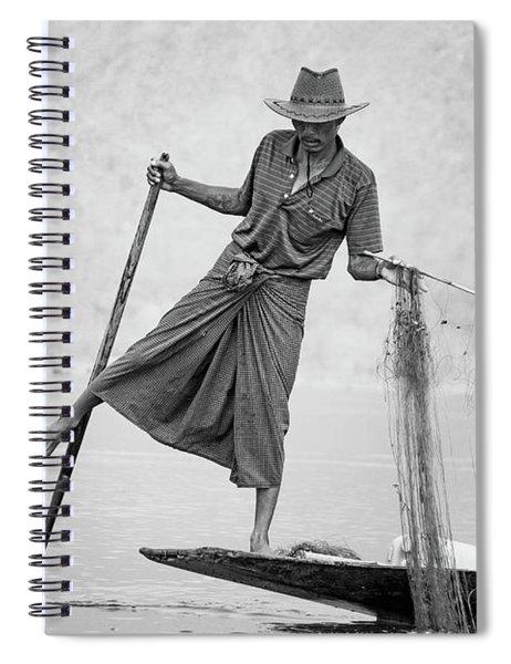 Inle Lake Fisherman Byw Spiral Notebook