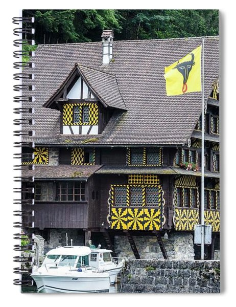 Inn On Lake Lucerne Spiral Notebook