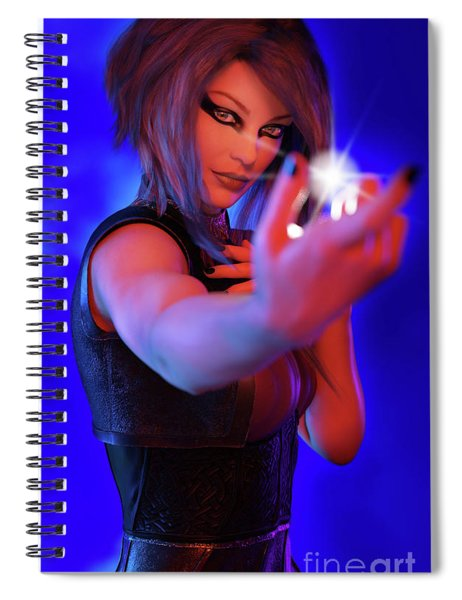 Inner Light Spiral Notebook