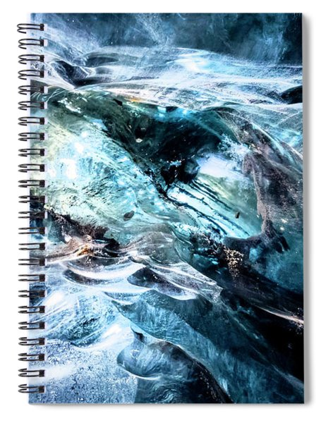 Inside The Glacier Spiral Notebook