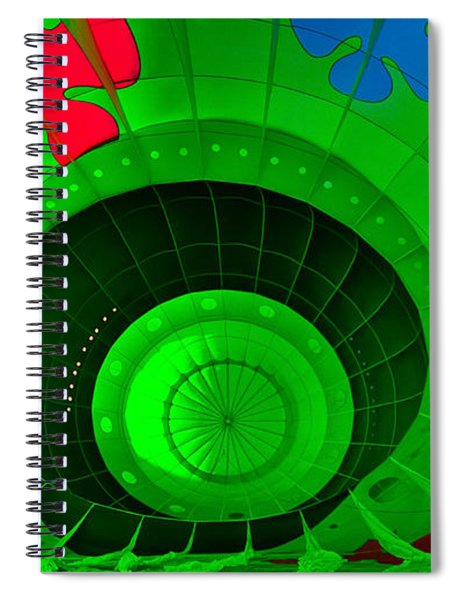 Inside The Green Balloon Spiral Notebook
