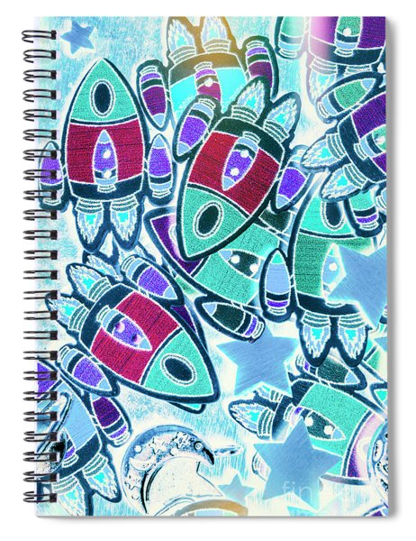 Intergalactic Abstract Spiral Notebook