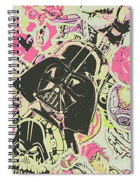 Intergalactic Planetary Pop Art Spiral Notebook