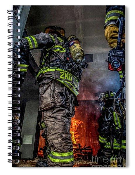 Interior Live Burn Spiral Notebook
