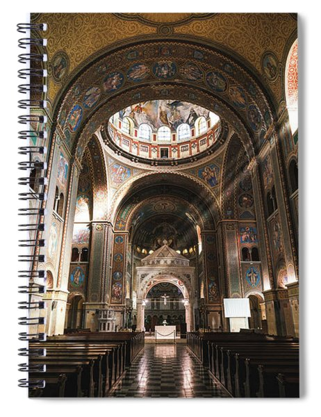 Interior Of The Votive Cathedral, Szeged, Hungary Spiral Notebook