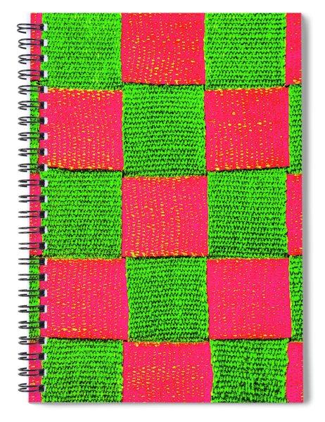 Interlaced Canvas Straps 2 Spiral Notebook