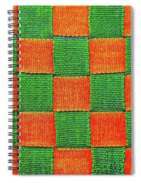 Interlaced Canvas Straps 3 Spiral Notebook