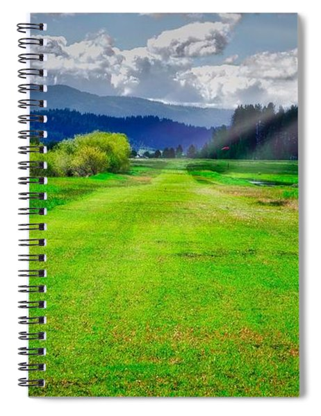 Inviting Airstrip Spiral Notebook