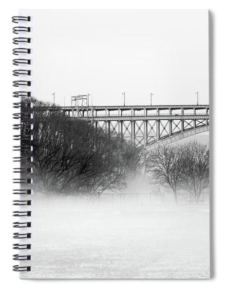Inwood Hill With Fog Spiral Notebook