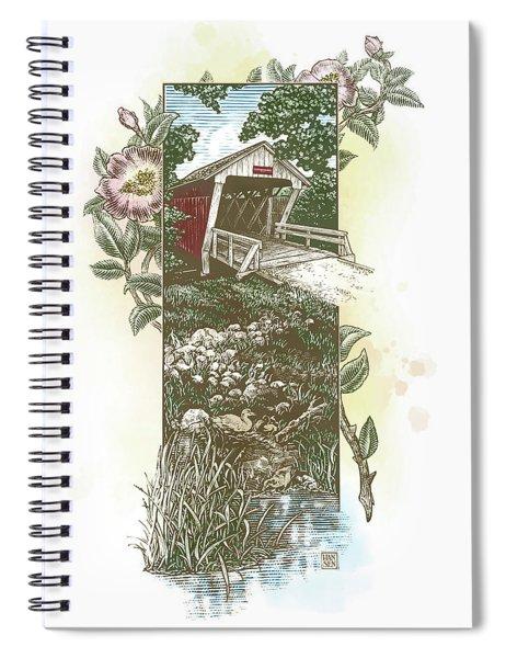 Iowa Covered Bridge Spiral Notebook