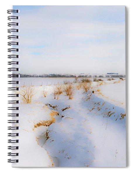 Iowa Winter Wonder Land Spiral Notebook by Edward Peterson