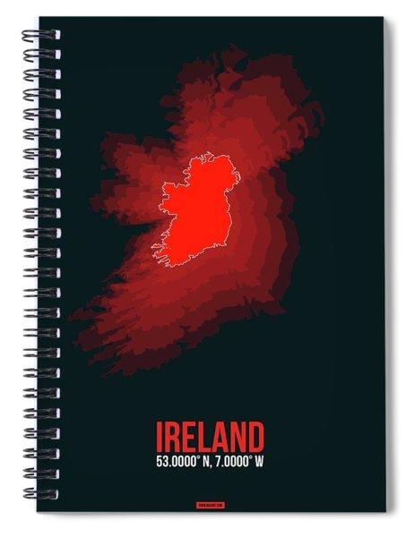 Ireland Radiant Map 1 Spiral Notebook
