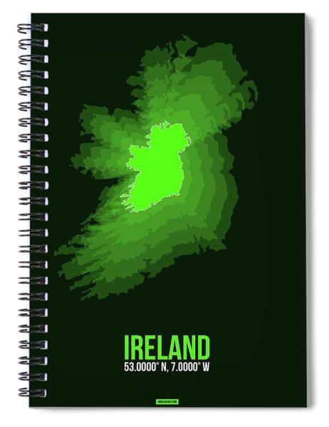 Ireland Radiant Map 2 Spiral Notebook