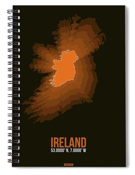 Ireland Radiant Map 3 Spiral Notebook