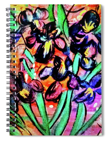 Iris Party Spiral Notebook