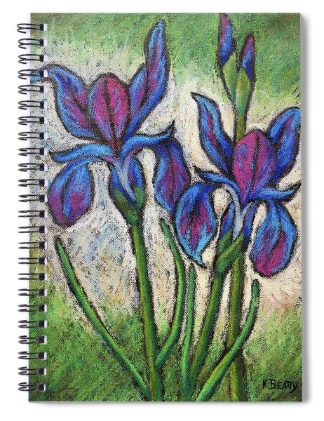 Irises In Bloom Spiral Notebook