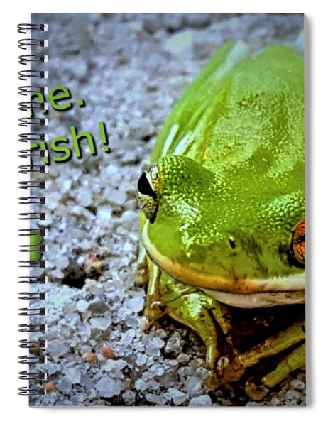 Irish Frog Spiral Notebook