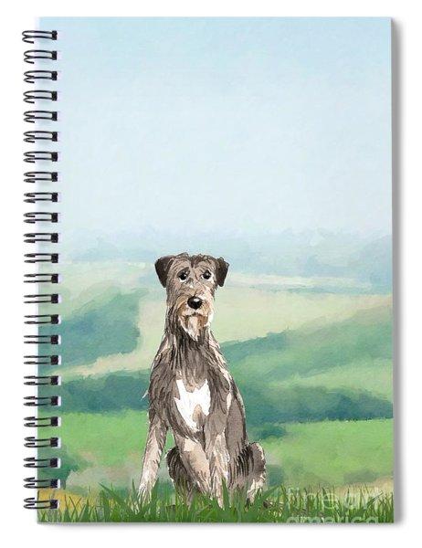 Irish Wolfhound Spiral Notebook