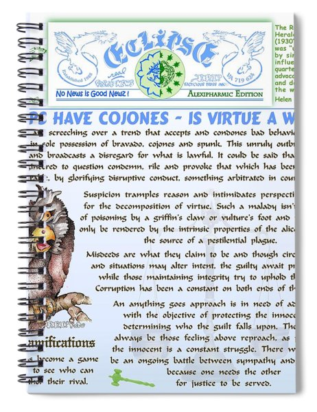 Is Virtue A Whimp Spiral Notebook