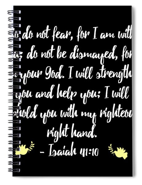 Isaiah 4110 Bible Spiral Notebook