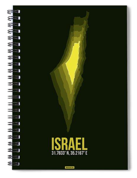 Israel Radiant Map 2 Spiral Notebook