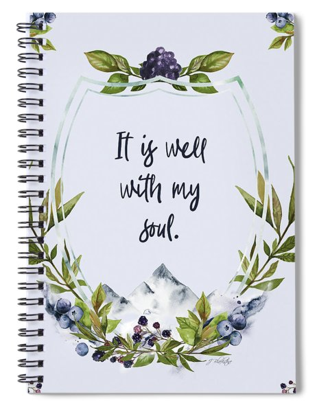 It Is Well With My Soul - Kindness Spiral Notebook