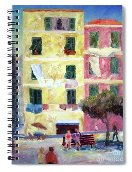 Italian Piazza With Laundry Spiral Notebook