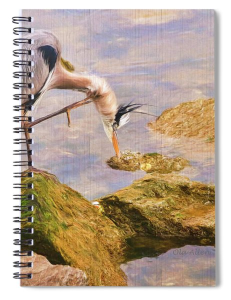 Itchy  Neck Heron Spiral Notebook
