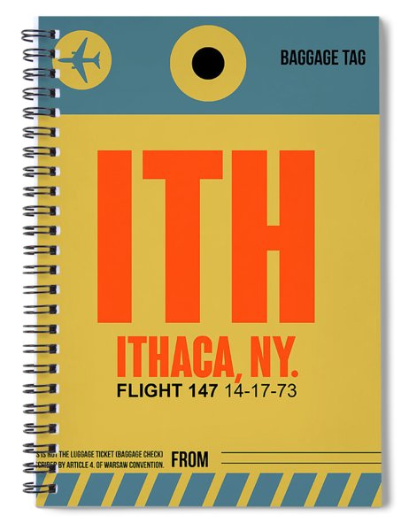 Ith Ithaca Luggage Tag I Spiral Notebook
