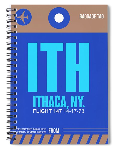 Ith Ithaca Luggage Tag II Spiral Notebook