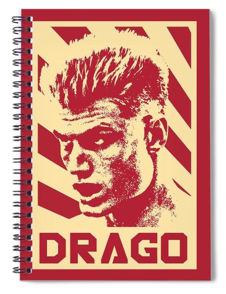 Ivan Drago Retro Propaganda Spiral Notebook