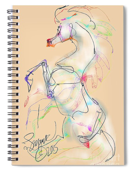 Ivory Horse Rising Spiral Notebook