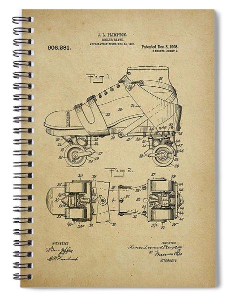 J. L. Plimpton, Roller Skate, Patented Dec.8,1908. Spiral Notebook