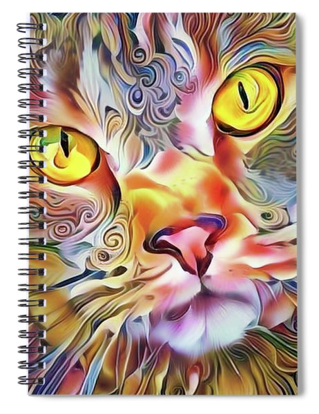 Jack The Tabby Cat Spiral Notebook