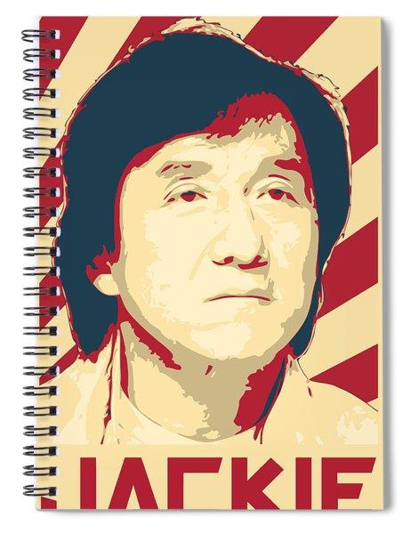 Jackie Chan Retro Propaganda Spiral Notebook