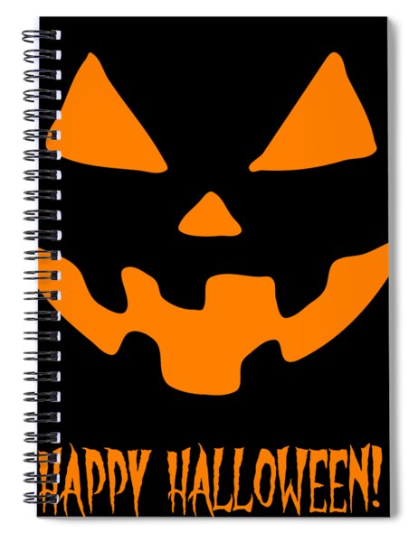 Jackolantern Happy Halloween Pumpkin Spiral Notebook