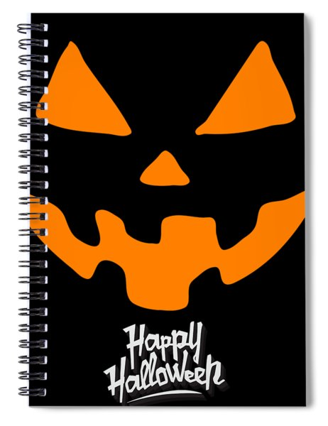 Jackolantern Pumpkin Happy Halloween Spiral Notebook