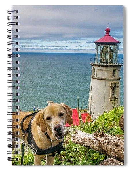 Jackson At Heceta Head Lighthouse Spiral Notebook