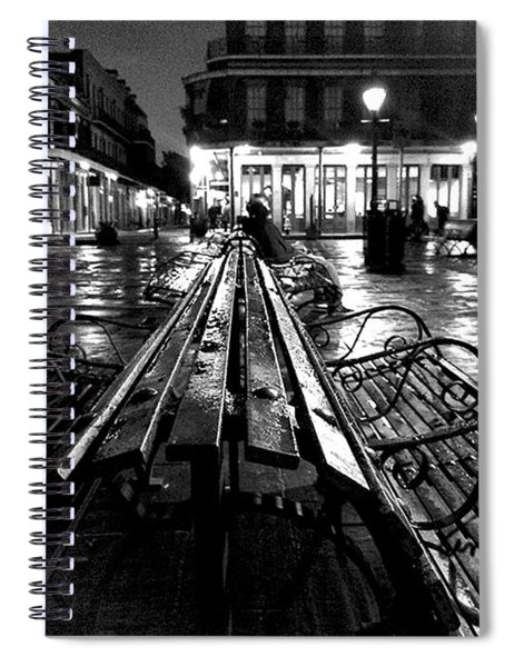 Jackson Square In The Rain Spiral Notebook