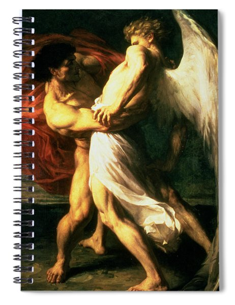 Jacob Wrestling With The Angel, 1865  Spiral Notebook
