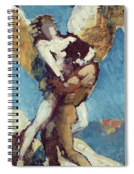 Jacob Wrestling With The Angel, Circa 1876 Spiral Notebook